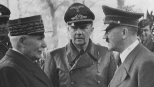 Le maréchal Pétain et Adolf Hitler à Montoire-sur-le-Loir, le 24 octobre 1940. Crédits photo: Deutsches Bundesarchiv