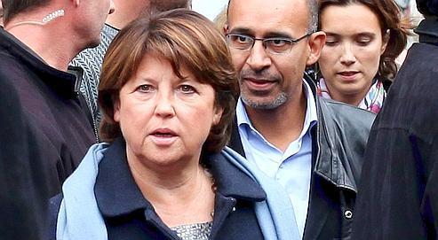 Martine Aubry, à Paris, le 2 octobre dernier, lors de la journée d'action contre la réforme des retraites.