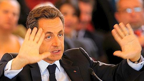 Nicolas Sarkozy jeudi à Bonneval, dans l'Eure-et-Loir.