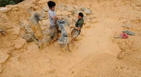 Baotou Steel Rare Earth High-Tech a investi 25millions d'euros dans trois sociétés de la province du Jiangxi, au sud de la Chine. Ici, un gisement de terre rare dans cette région.
