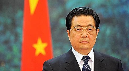 Hu Jintao, au Grand Palais du peuple à Pekin en avril dernier, lors de la visite en Chine de Nicolas Sarkozy.