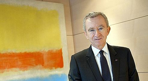 Bernard Arnault dans son bureau, mercredi, à Paris.