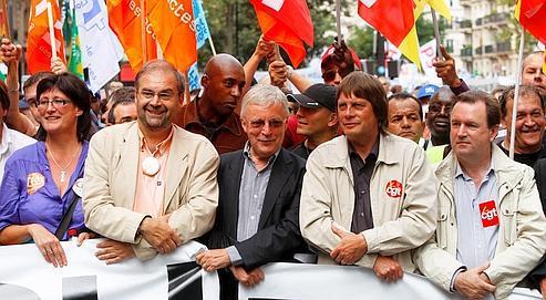 Manifestation contre la réforme des retraites en septembre.