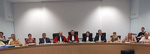 La cour et les jurés lors d'un procès aux assises. AFP