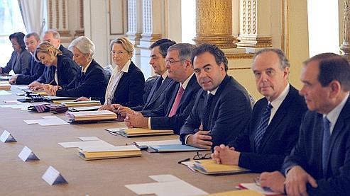Le premier conseil des ministres du gouvernement Fillon III, mercredi matin.