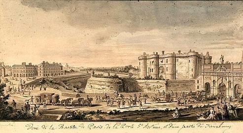 Une vue de la Bastille et de la porte Saint-Antoine.