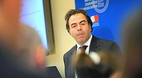 Luc Chatellors de sa conférencede presse, mercredi au ministèrede l'Éducation nationale.