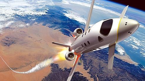 Vue d'artiste de l'avion-fusée imaginé par EADS Astrium.