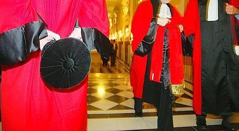 Plusieurs magistrats lors de l'ouverture solennelle de la Cour de cassation au Palais de justice à Paris, en janvier 2007.