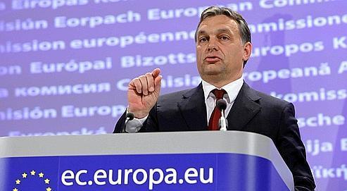 Viktor Orban a affirmé que le loi adoptée en Hongrie emprunte «sans exception» à des lois déjà en vigueur dans le reste de l'Union européenne.