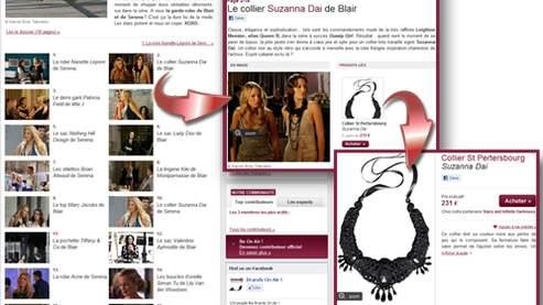 Le collier Suzanna Dai de Blair dans la série Gossip Girl.