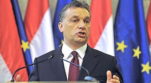 Le premier ministre hongrois,Viktor Orban,lors d'une conférence de presseau Parlement hongrois, le 7 janvier à Budapest.