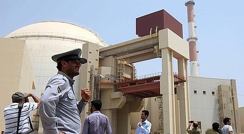 Le site de la centrale nucléaire de Bushehr , construite en coopération avec la Russie.