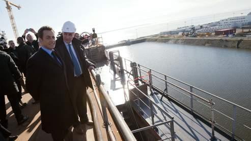 «Ce qui se joue ici, c'est l'avenir du patrimoine industriel français», a déclaré Nicolas Sarkozy à Saint-Nazaire.