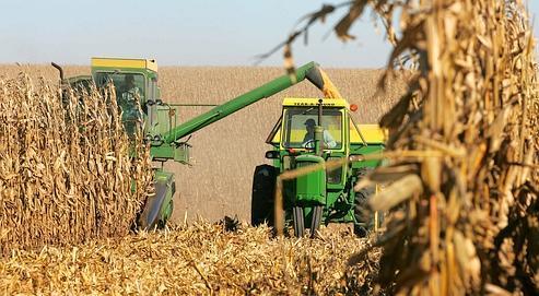 Récolte de maïs dans le Wisconsin. Les États-Unis disposent de davantage d'outils que l'Europe pour calmer la spéculation sur les prix agricoles.