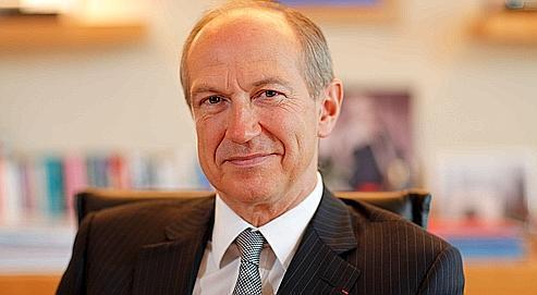 Jean-Paul Agon dans son bureau à Clichy le 10 février 2011.