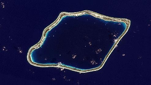 L'atoll de Tureia en Polynésie française. (crédits photo : Nasa)
