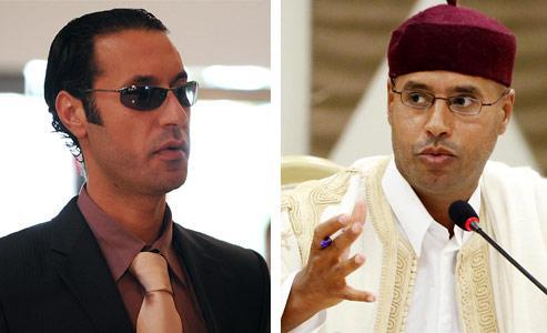 Muatassim et Seif al-Islam qui apparaissaient jusqu'ici alternativement comme des successeurs possibles. Crédits photo : AFP - Montage lefigaro.fr