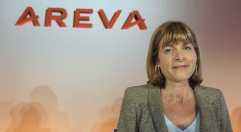 Anne Lauvergeon, la présidente du directoire d'Areva, jeudi à Paris.