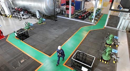 Á l'intérieur de la centrale nucléaire de Flamanville.