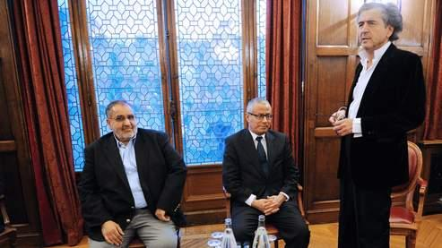 Ali Zeidane (à gauche) et Mansour Saif El Nasser ont été conviés à une conférence par Bernard-Henri Lévy.