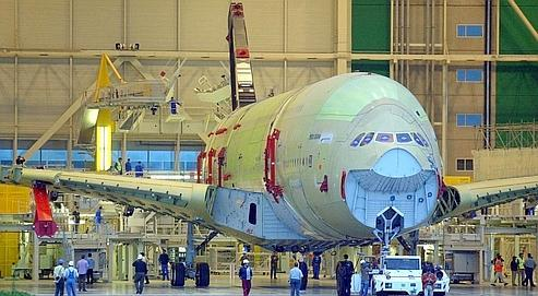 Construction d'un Airbus A380, à Toulouse.