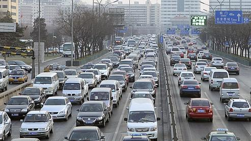 Les bouchons se font de plus en plus fréquents à Pékin.