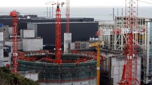 Le chantier de l'EPR de Flamanville (Normandie)