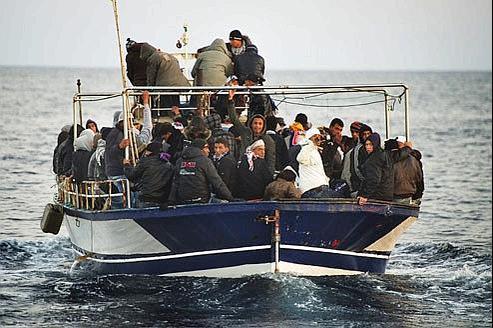 Environ 22.000 clandestins sont déjà arrivés sur l'île de Lampedusa. Crédist photo: AFP/ ROBERTO SALOMONE.