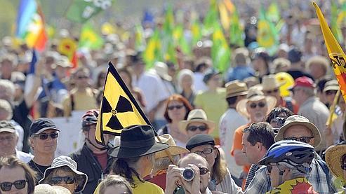 Les rangs de la manifestations comptaient des antinucléaires venus de France mais aussi d'Allemagne et de Suisse.