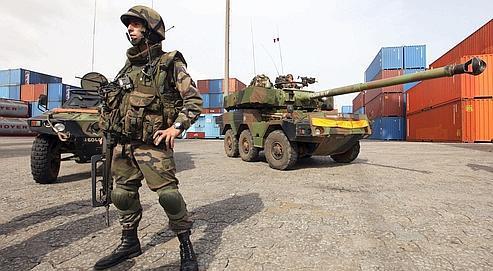 Lundi matin, 200 à 250 militaires français ont été dépêchés dans le quartier de Cocody.