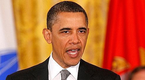 Barack Obama (ici, lundi) devait, mercredi soir, définir l'objectif de réduire le déficit de 4000 milliardsde dollars sur 12 ans.