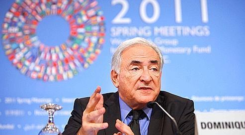 Dominique Strauss-Kahn, directeur général du Fonds monétaire international, hier à Washington.