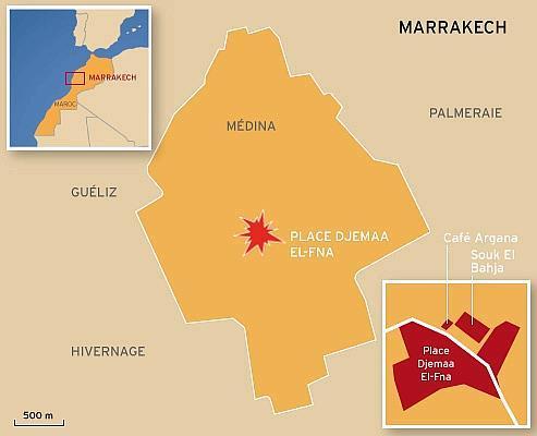 Marrakech : la bombe aurait été déclenchée à distance