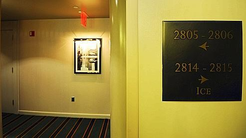 Le couloir du Sofitel de New York menant à la suite 2806 qu'occupait DSK le week-end dernier.