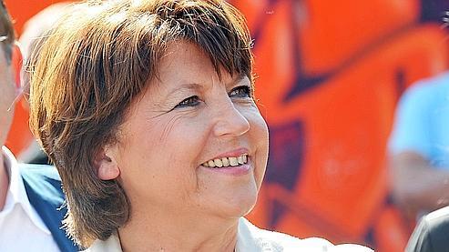 Martine Aubry, vendredi, à Lille.