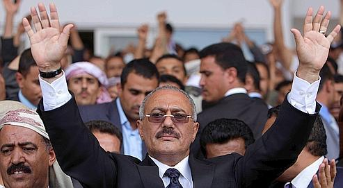 Ali Abdallah Saleh en avril dernier.
