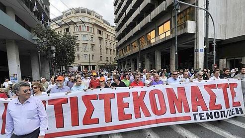 Faible mobilisationà Athènes contre l'austérité