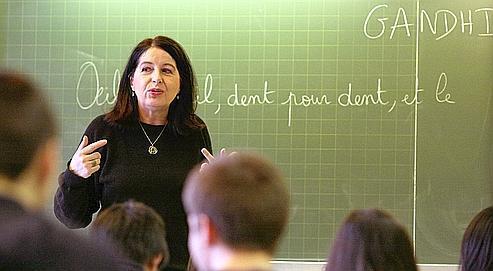 Un cours de Lettes au Lycée Ravel à Paris. Jusqu'à présent, les chefs d'établissement n'ont pas leur mot à dire sur les candidats à l'embauche.