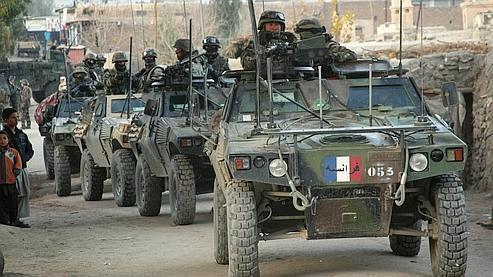 Des soldats français patrouillant à Surobi, à l'est de Kaboul. AFP PHOTO/Joel SAGET