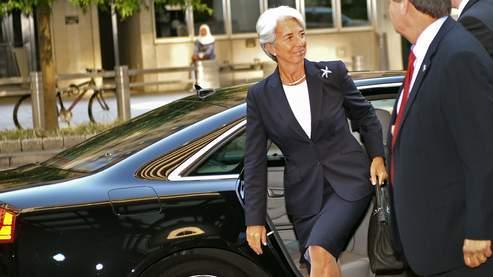 Christine Lagarde lors de sa prise de fonction au Fonds monétaire international, mardi 5 juillet.