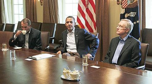 Les négociations du week-end entre Barack Obama, le démocrate Harry Reid et le républicain John Boehner pour trouver un accord sur la dette ont toutes échoué.
