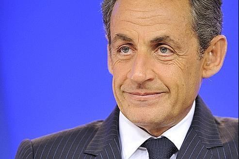 Nicolas Sarkozy s'exprime au cours d'une conférence de presse, à l'occasion du sommet européen du 21 juillet, à Bruxelles.
