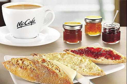 A partir de septembre, les clients de Mc Donald's pourront goûter au charme du petit déjeuner à la française. (Crédits photo: DR)