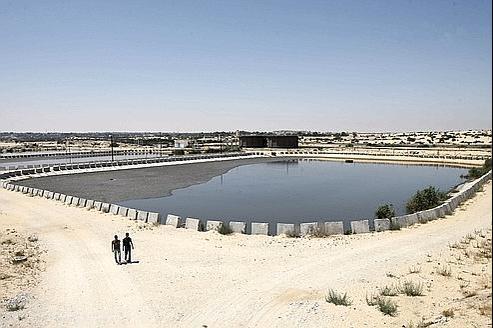 Une installation de traitement d'eau financée par la France, à Rafah, au sud de la bande de Gaza.