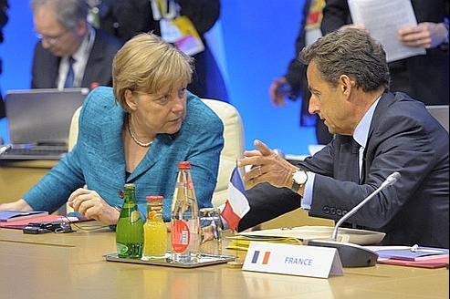 Angela Merkel et Nicolas Sarkozy, lors du sommet du G8 qui s'est tenu le 26 mai dernier à Deauville.