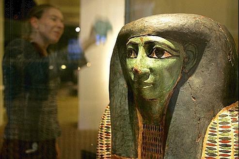 Un sarcophage égyptien datant du VIIe siècle avant J.C. (illustration).