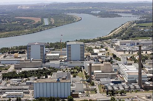 Le site de Marcoule en 2009.