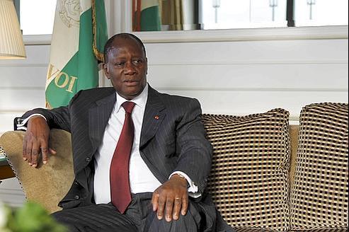 Alassane Ouattara, le 12 septembre 2011. Crédits : François Bouchon/Le Figaro