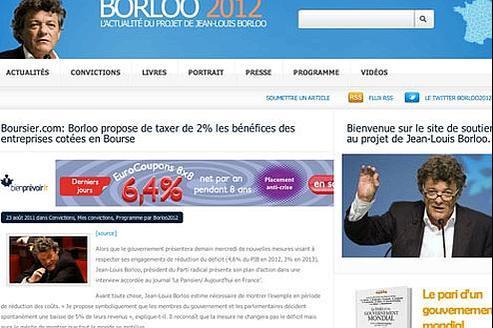 Le Figaro a pu réaliser des captures d'écran du site borloo2012.com juste avant sa fermeture vendredi soir.